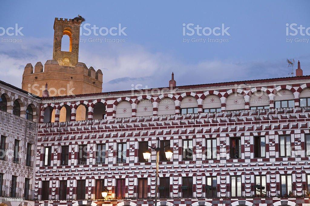Overnight in Badajoz, Spain stock photo