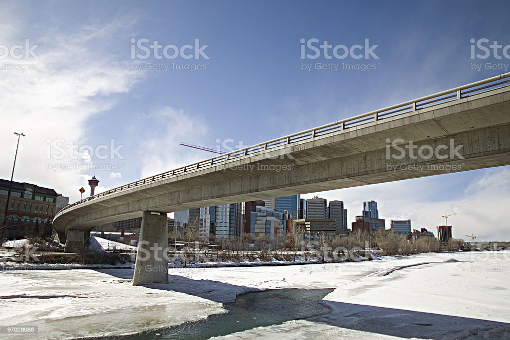 Overpass and cityscape royalty-free stock photo