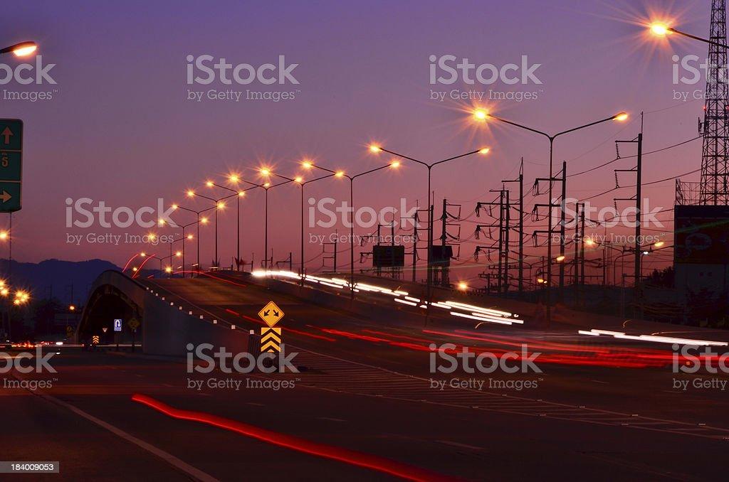 Overpass evening. stock photo
