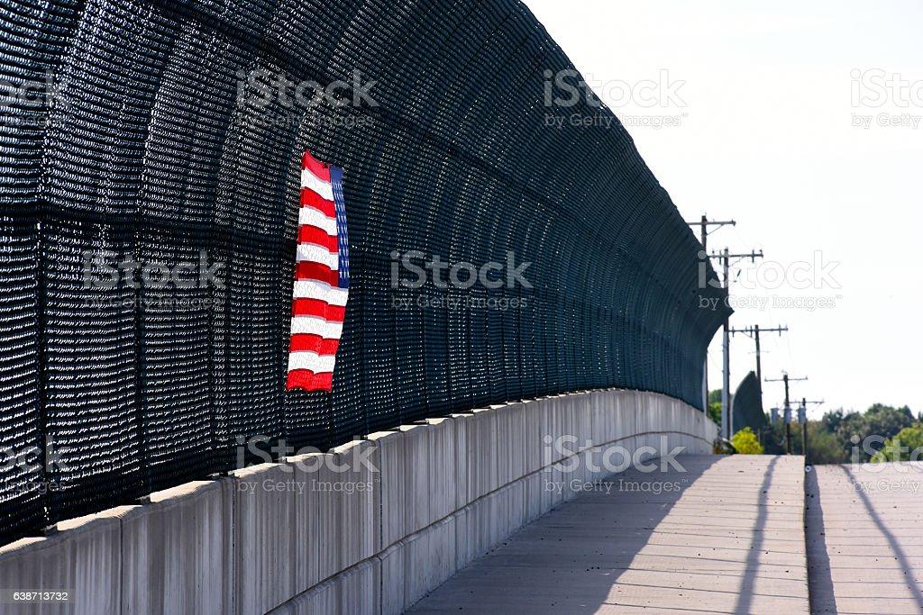 Overpass Flag stock photo