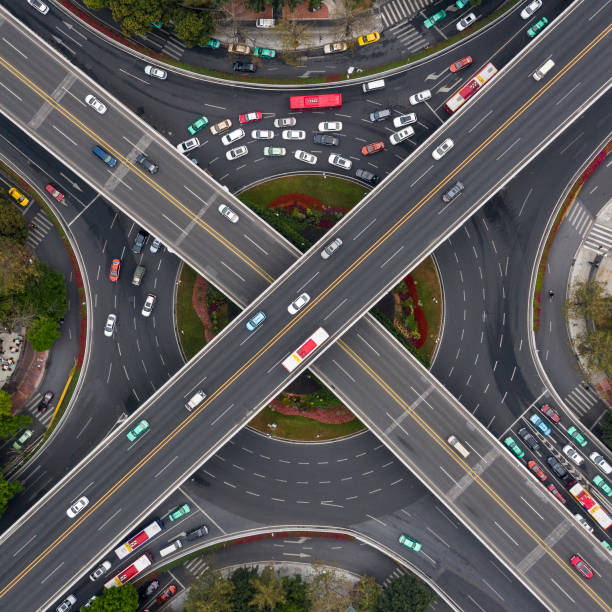 overpass in Guangzhou overpass in Guangzhou elevated road stock pictures, royalty-free photos & images