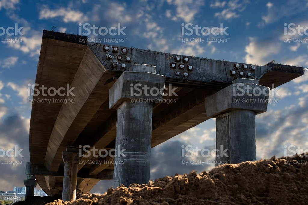 overpass within construction stock photo