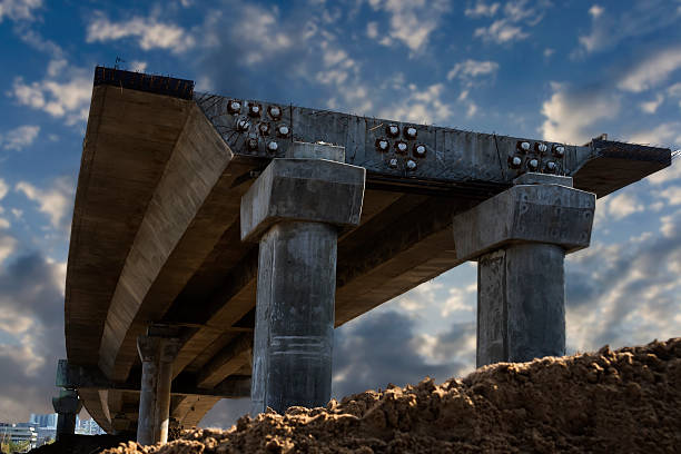 overpass within construction - bridge built structure stock photos and pictures