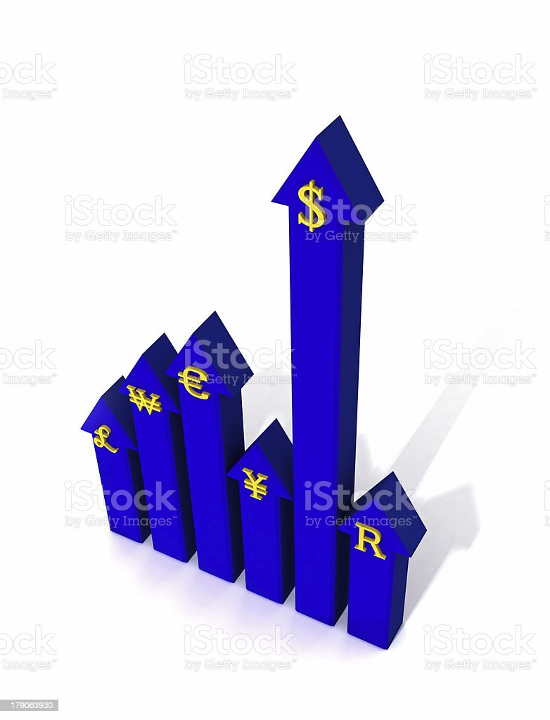 Overpowering currency royalty-free stock photo