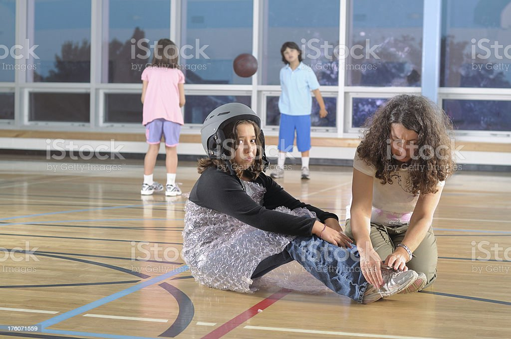 Overprotective parenting concept stock photo