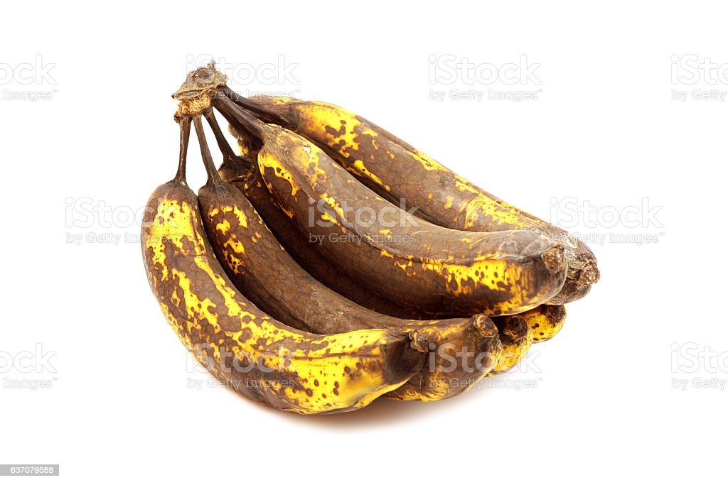 Overripe Bananas stock photo