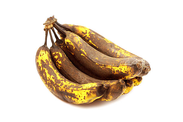 overripe bananas - ripe stock photos and pictures