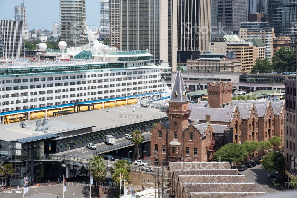 Overseas Passenger Terminal in Sydney stock photo