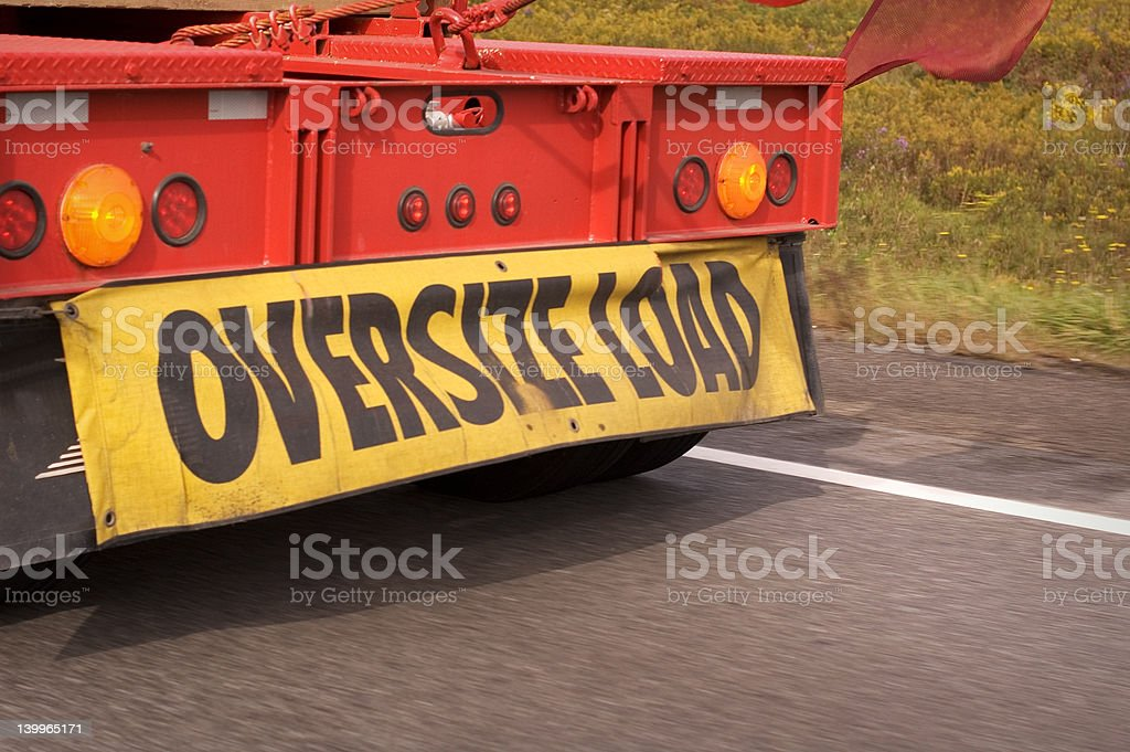 Oversize Load stock photo