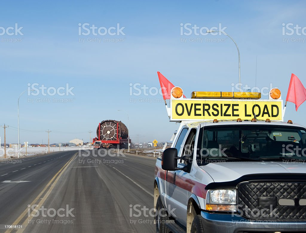 Oversize Load royalty-free stock photo