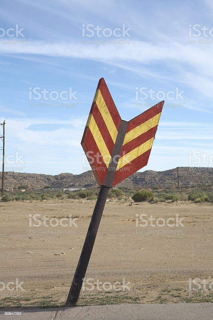 Oversized arrow stock photo