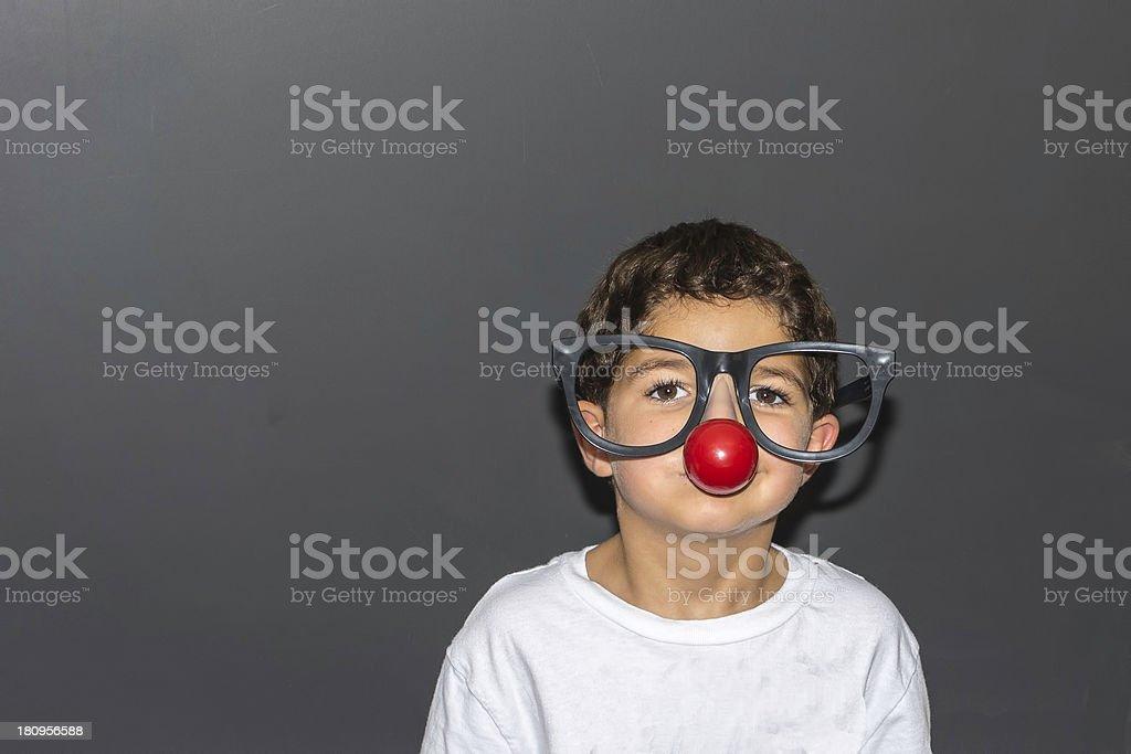 Oversized Clown Glasses stock photo