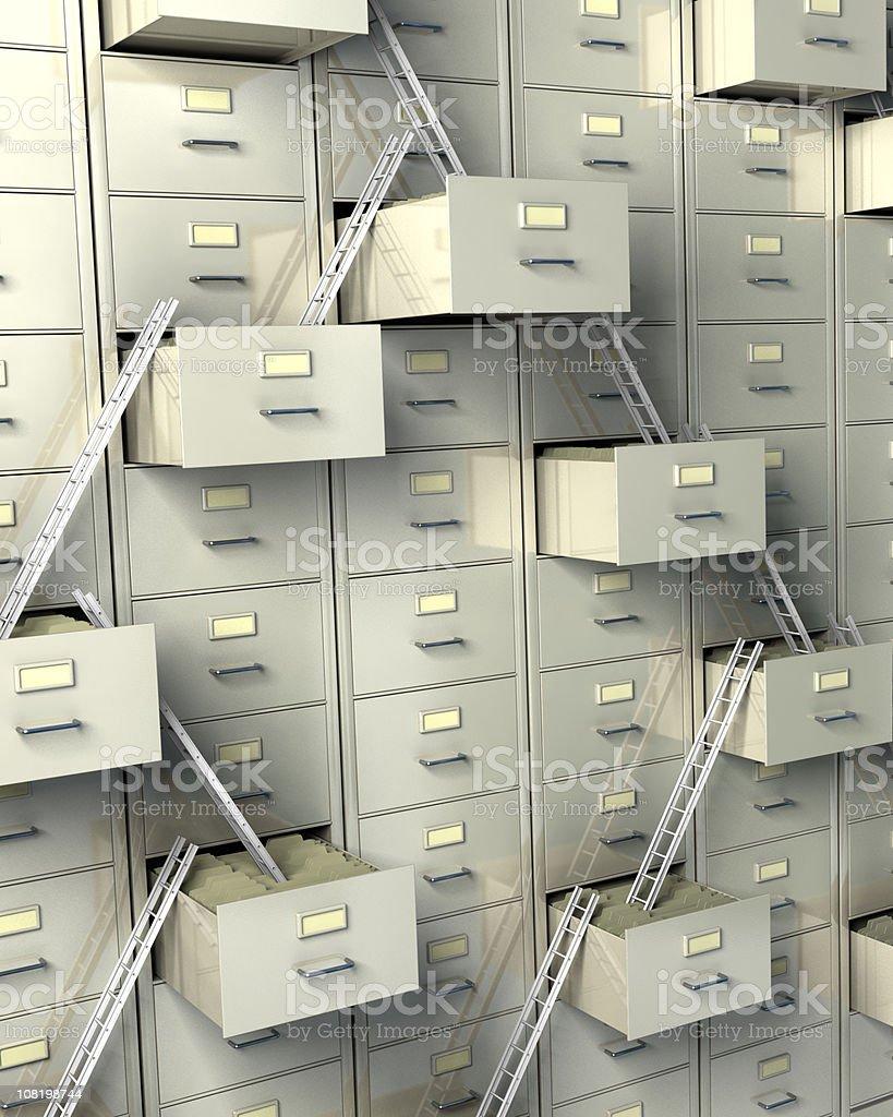 Oversized Filing Cabinets royalty-free stock photo