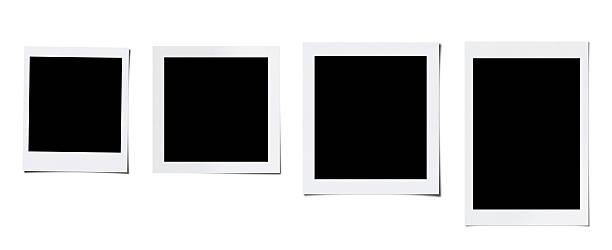 oversized four blank photo (clipping path) - 摄影 個照片及圖片檔