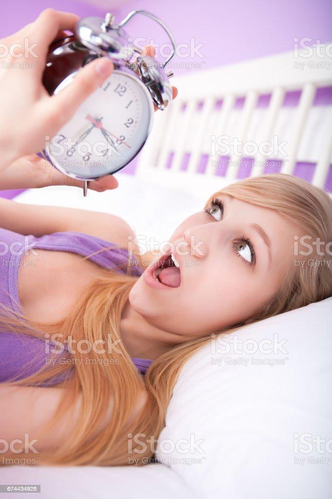 Oversleeping - foto de acervo