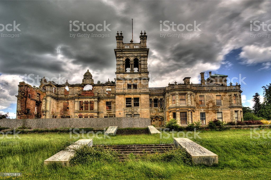Overstone Hall Northamptonshire stock photo