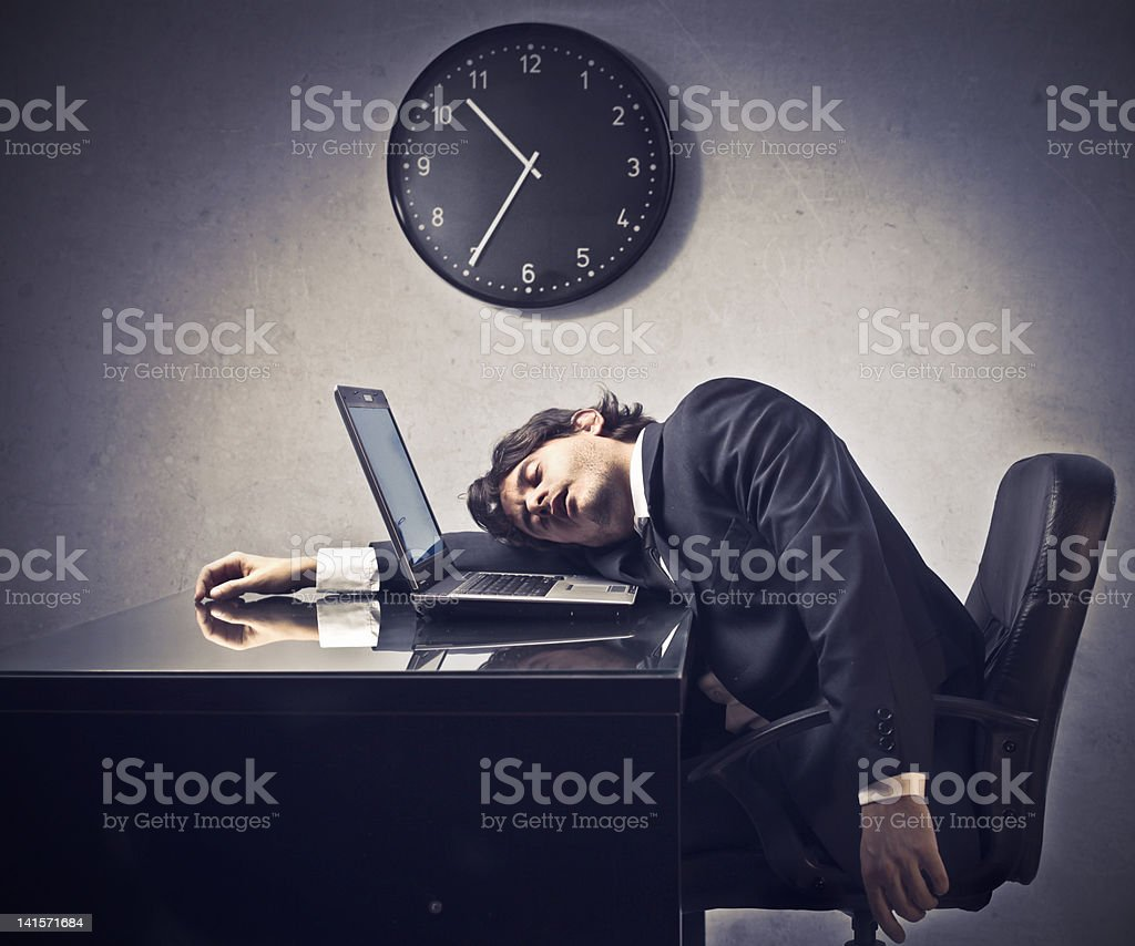 Overtime working royalty-free stock photo