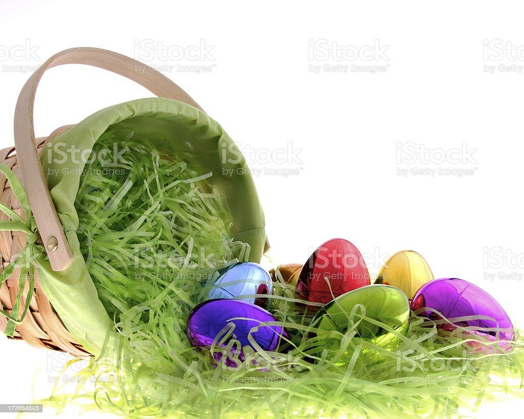 Overturned Easter Basket stock photo