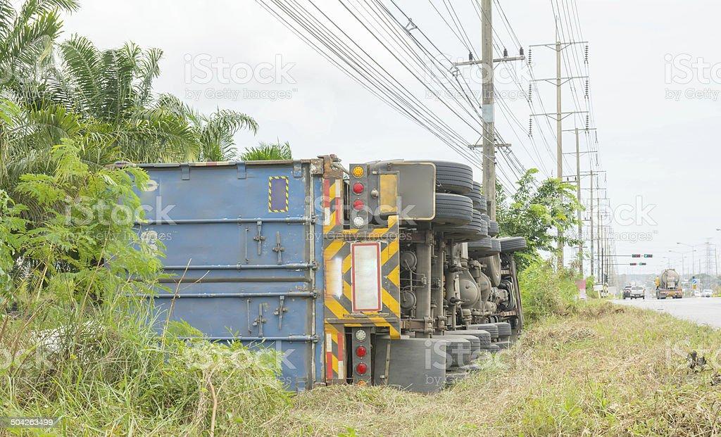 Overturned truck – Foto