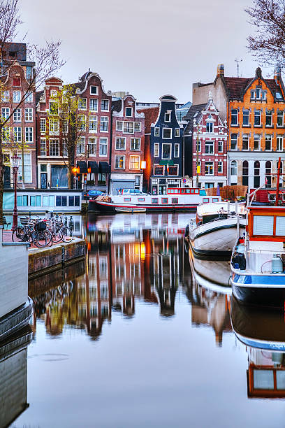 Overview of Amsterdam stock photo