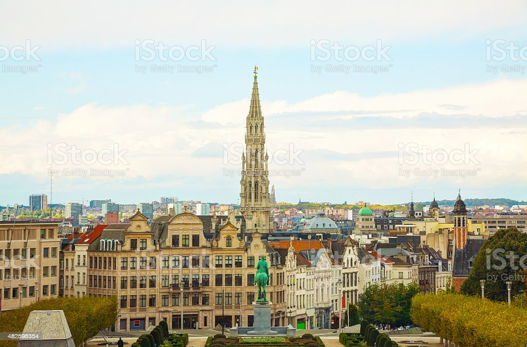 Overview of Brussels, Belgium stock photo