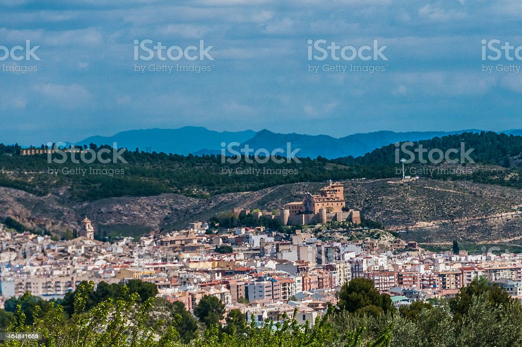 Overview of Caravaca de la Cruz stock photo