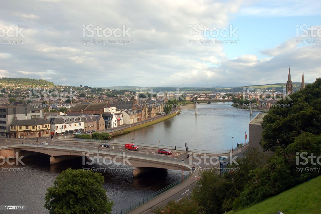 Overview of City Inverness - United Kingdom royalty-free stock photo