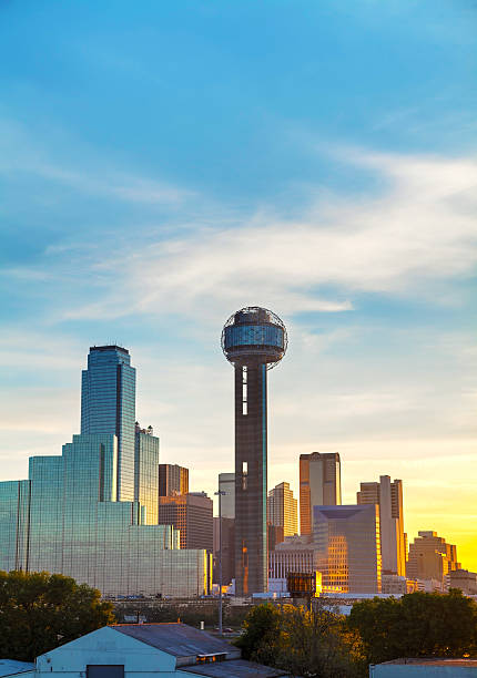 Overview of downtown Dallas stock photo