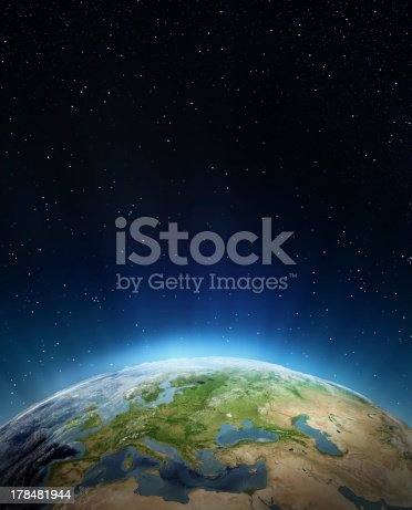 istock Overview of edge of the earth from outer space 178481944