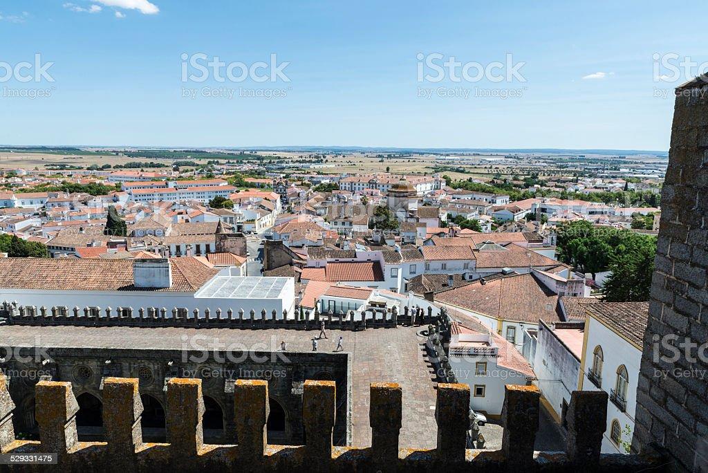 Overview of Evora stock photo