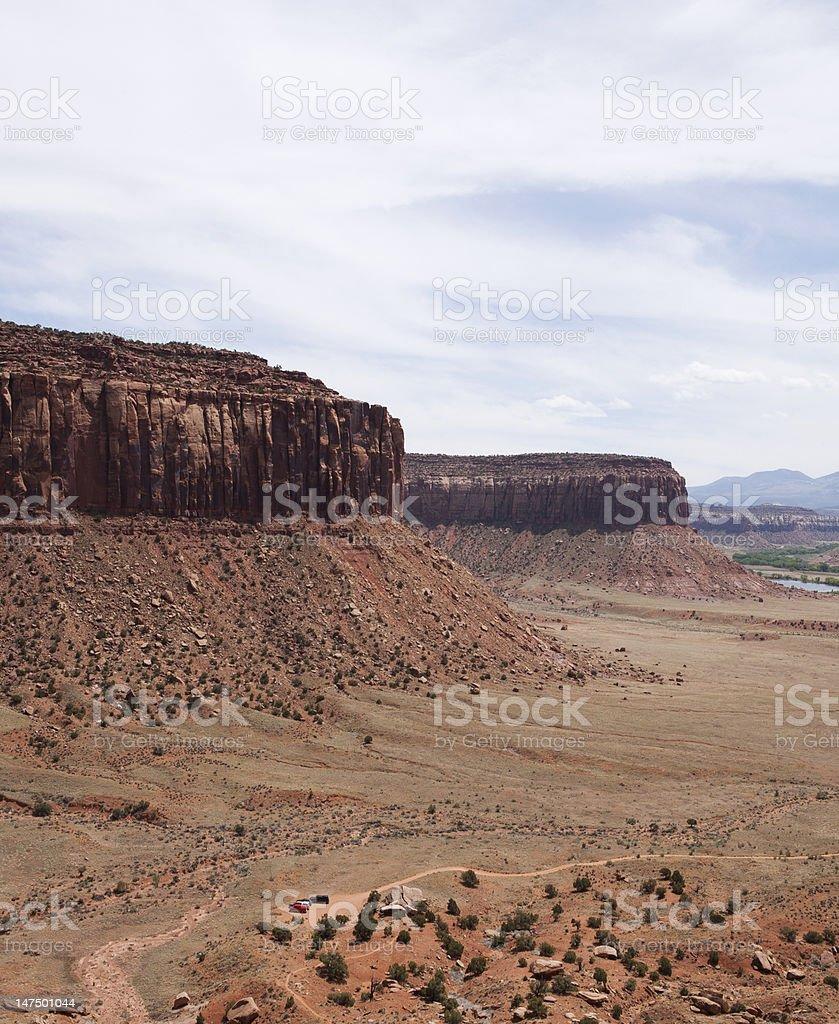 Overview of Indian Creek Recreation Area, Utah stock photo