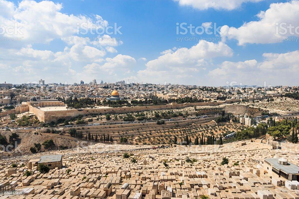 Overview of Jerusalem stock photo