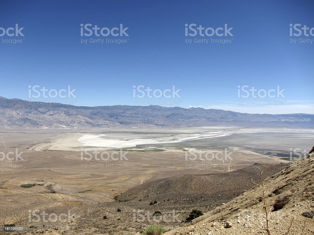 Overview of Owens Valley, California, USA royalty-free stock photo
