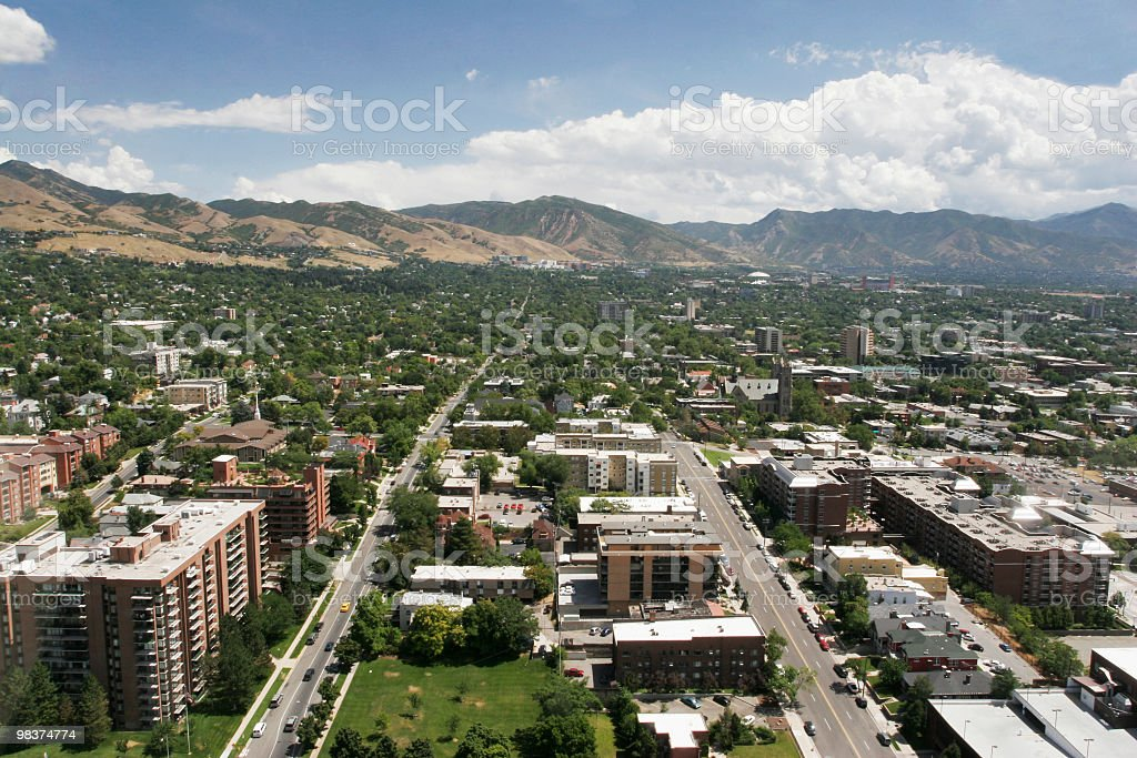 Overview of Salt Lake City royalty-free stock photo