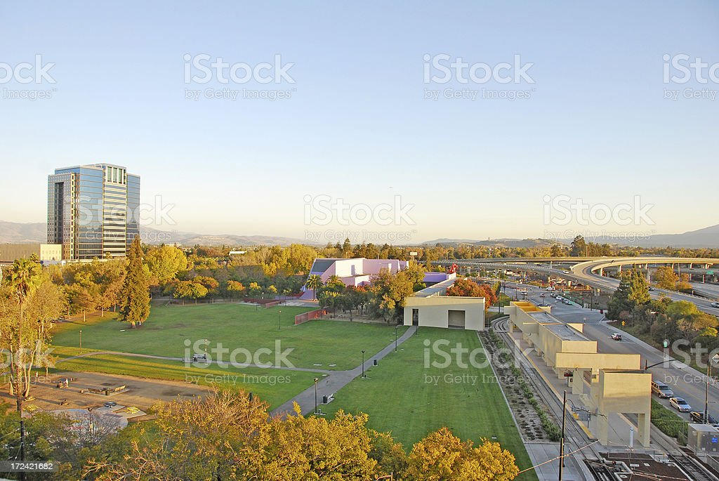 Overview of San Jose, CA royalty-free stock photo