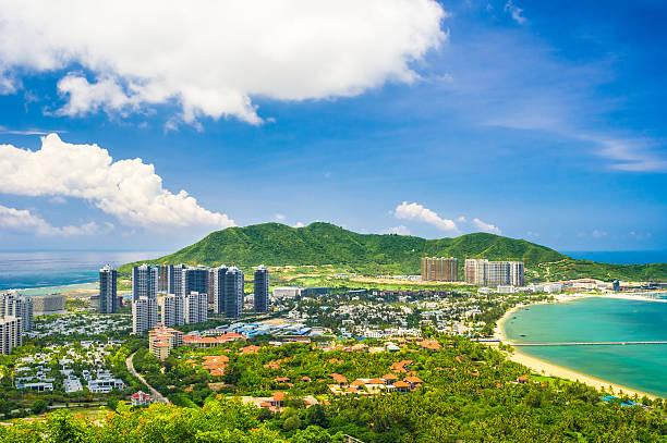 Overview of Sanya city, Hainan Province, China stock photo