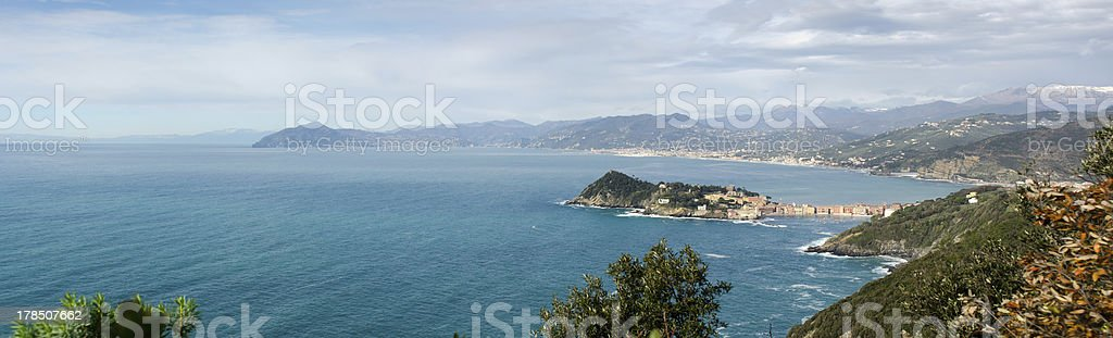 overview of Sestri Levante stock photo
