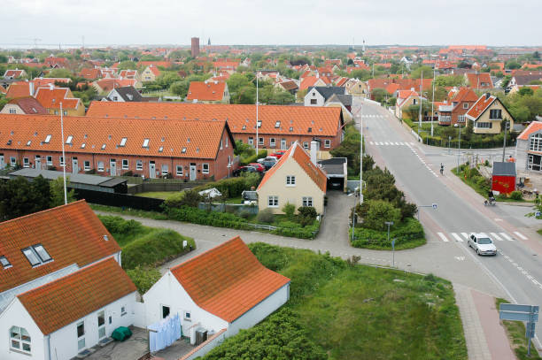 Overview of Skagen stock photo