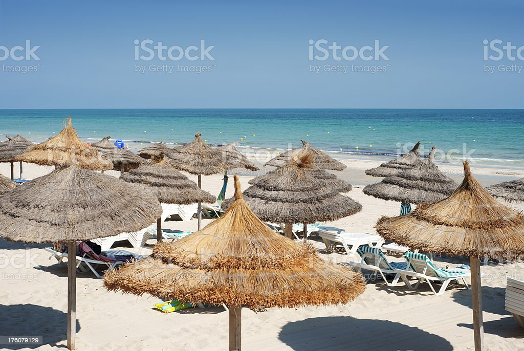 Overview of the beach stock photo