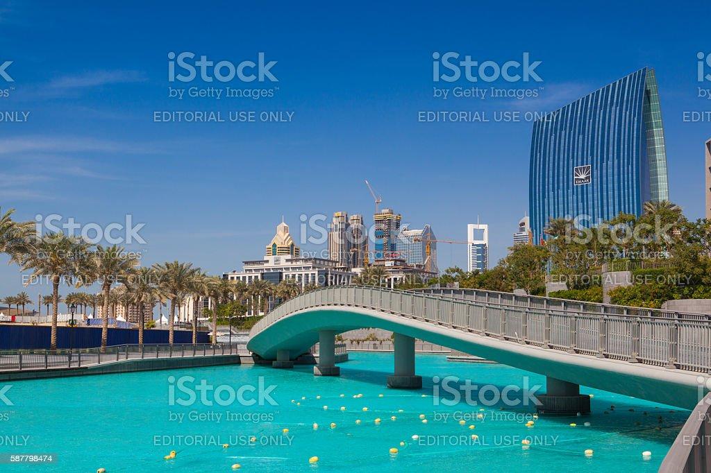Overview of the Dubai Mall in Dubai. stock photo
