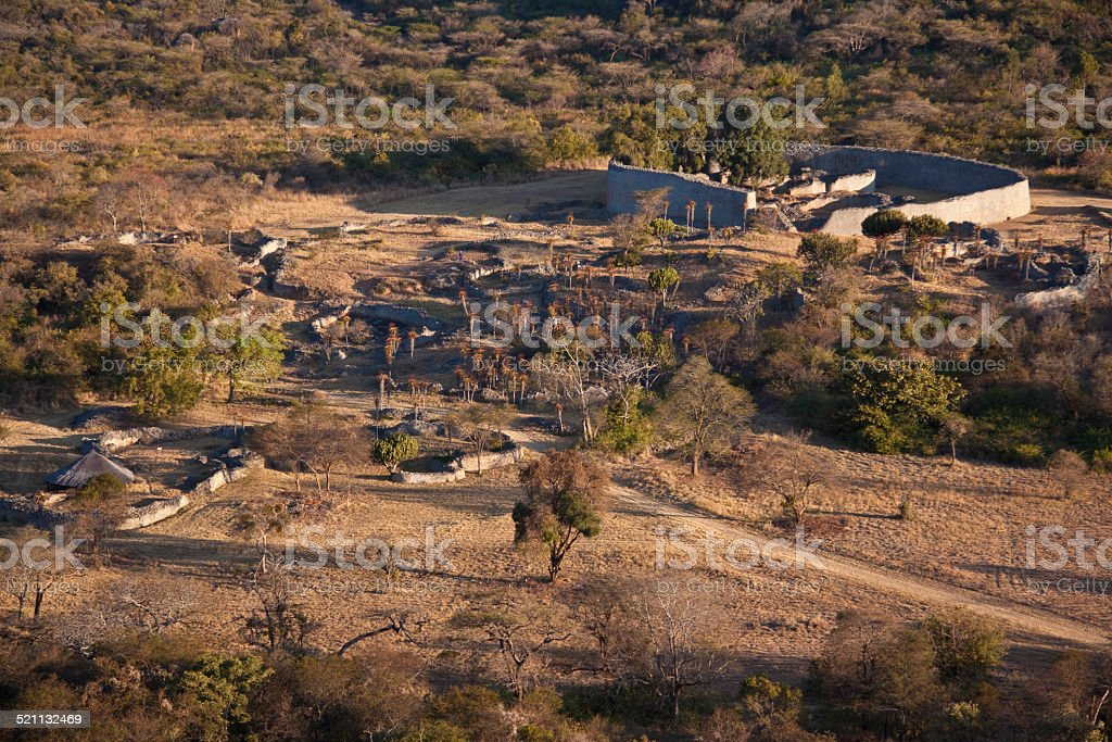 Overview of The Great Zimbabwe stock photo