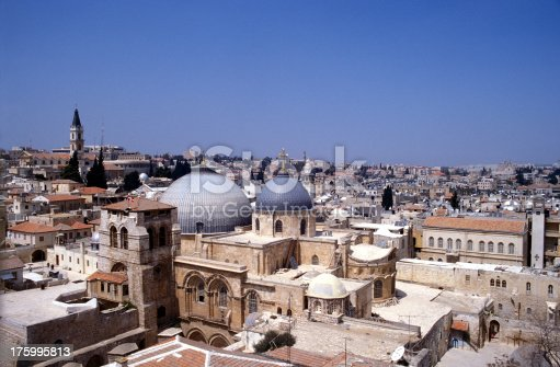 istock Overview of the Old city Jerusalem 175995813