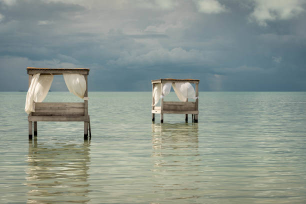 Overwater beds in the Caribbean.