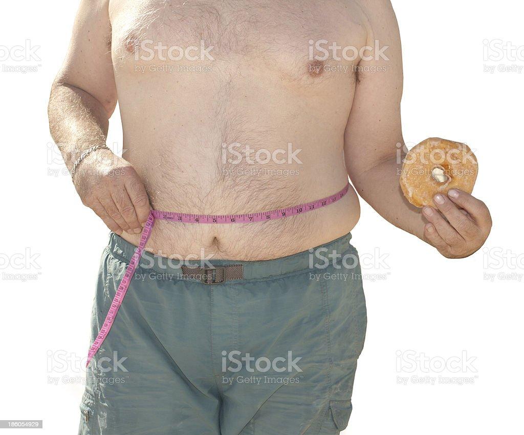 Overweight Body stock photo