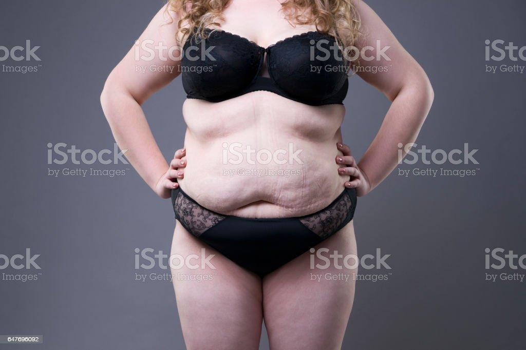Übergewichtige schwangere bauch