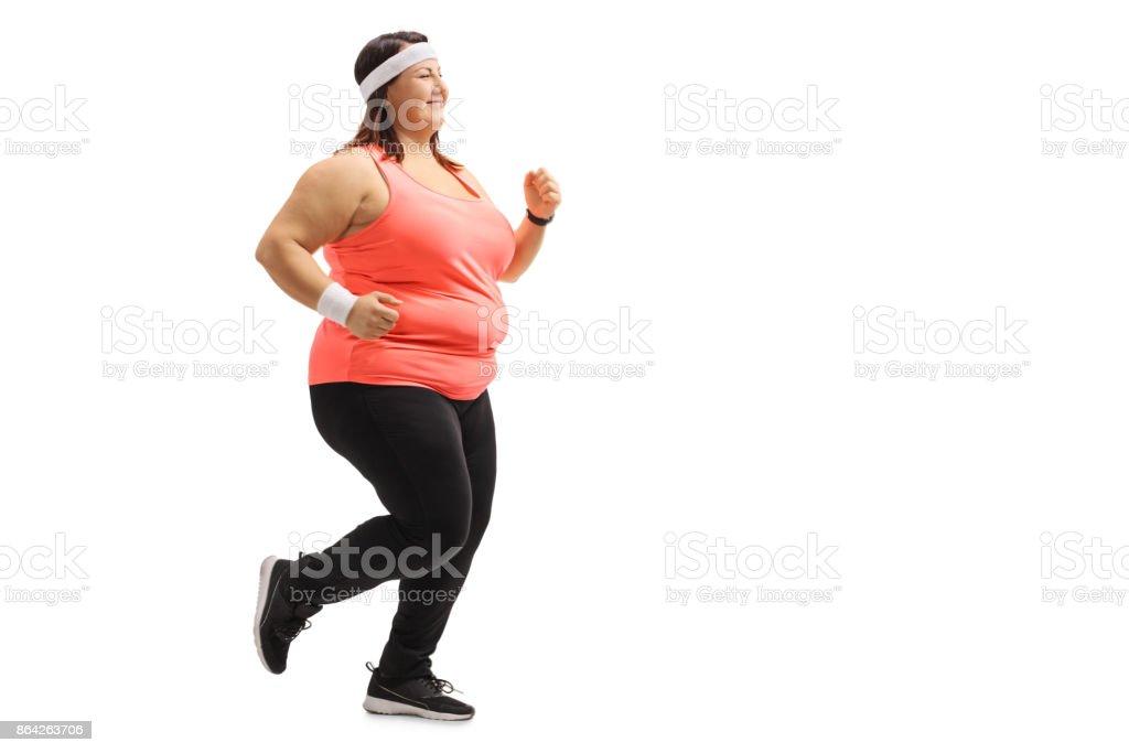 Overweight Girl Running Stock Photo Download Image Now Istock