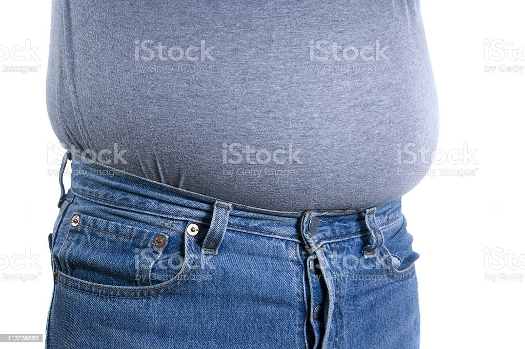 overweight male royalty-free stock photo