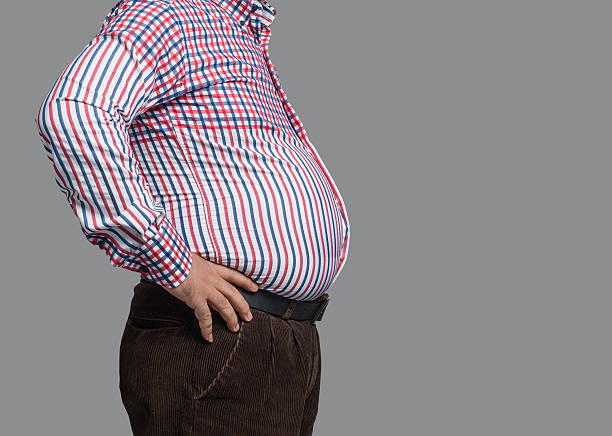 Overweight man stock photo