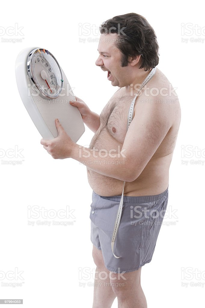 Overweight man royalty-free stock photo