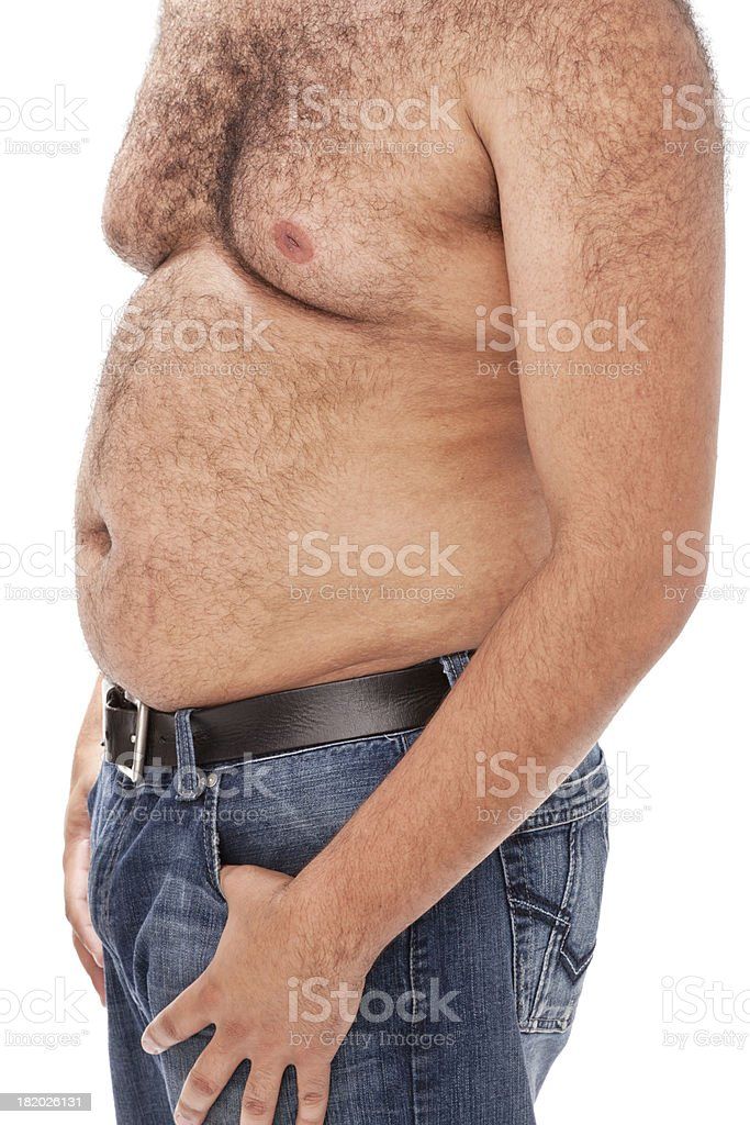 Overweight Mixed Race Man royalty-free stock photo